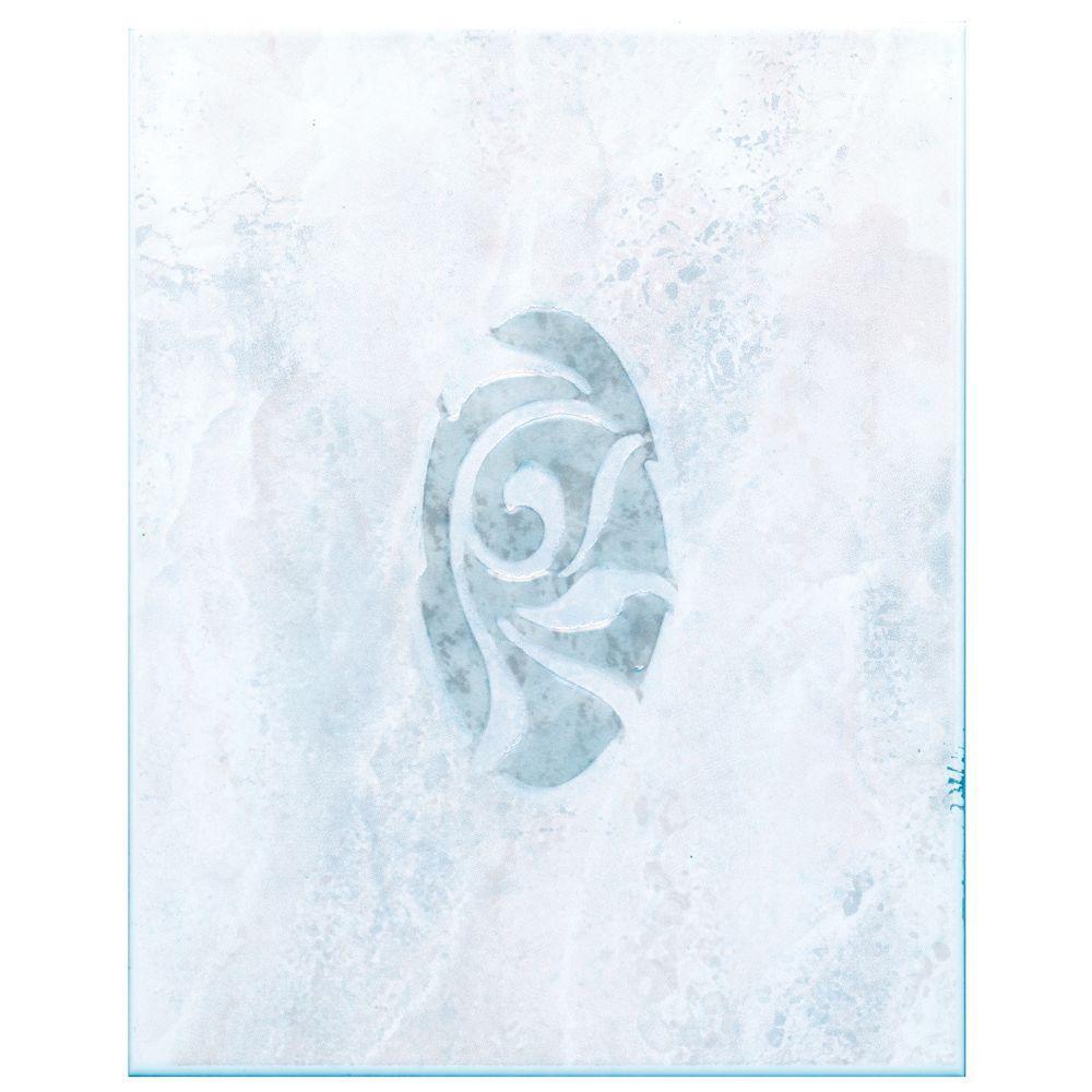 Merola Tile Joya Gris 8 in. x 10 in. Ceramic Decor Trim Tile