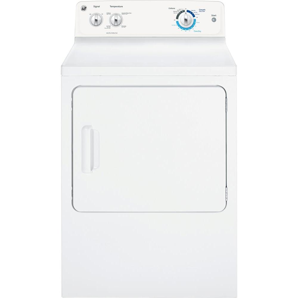 GE 6.8 cu. ft. Gas Dryer in White
