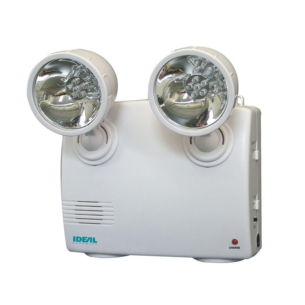 IDEAL Security White 2-Lamp Blackout And Power Failure 6