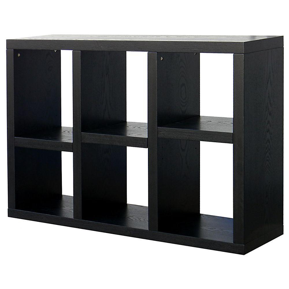 DonnieAnn Richdale 6-Shelf Storage Bookcase with 2-Adjustable Shelves in Dark Espresso