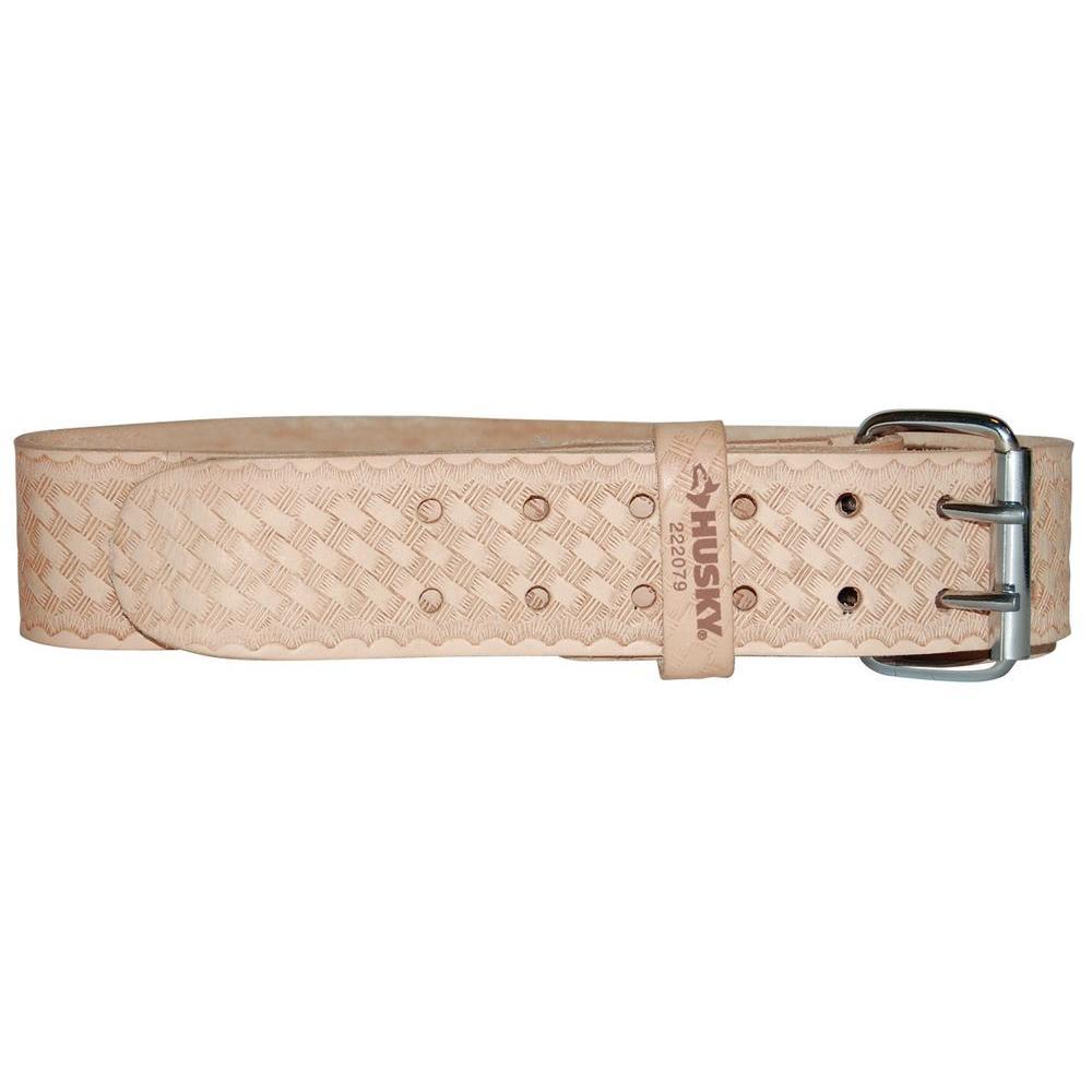Husky 2 in. Saddle Leather Work Belt