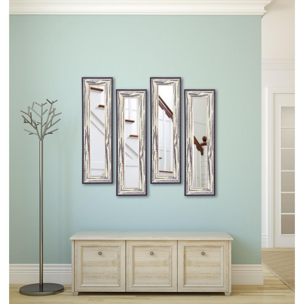11.5 inch x 29.5 inch Rustic Seaside Vanity Mirror (Set of 4-Panels) by