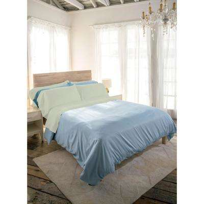 Siesta 3-Piece Sage Cotton Twin Sheet Set