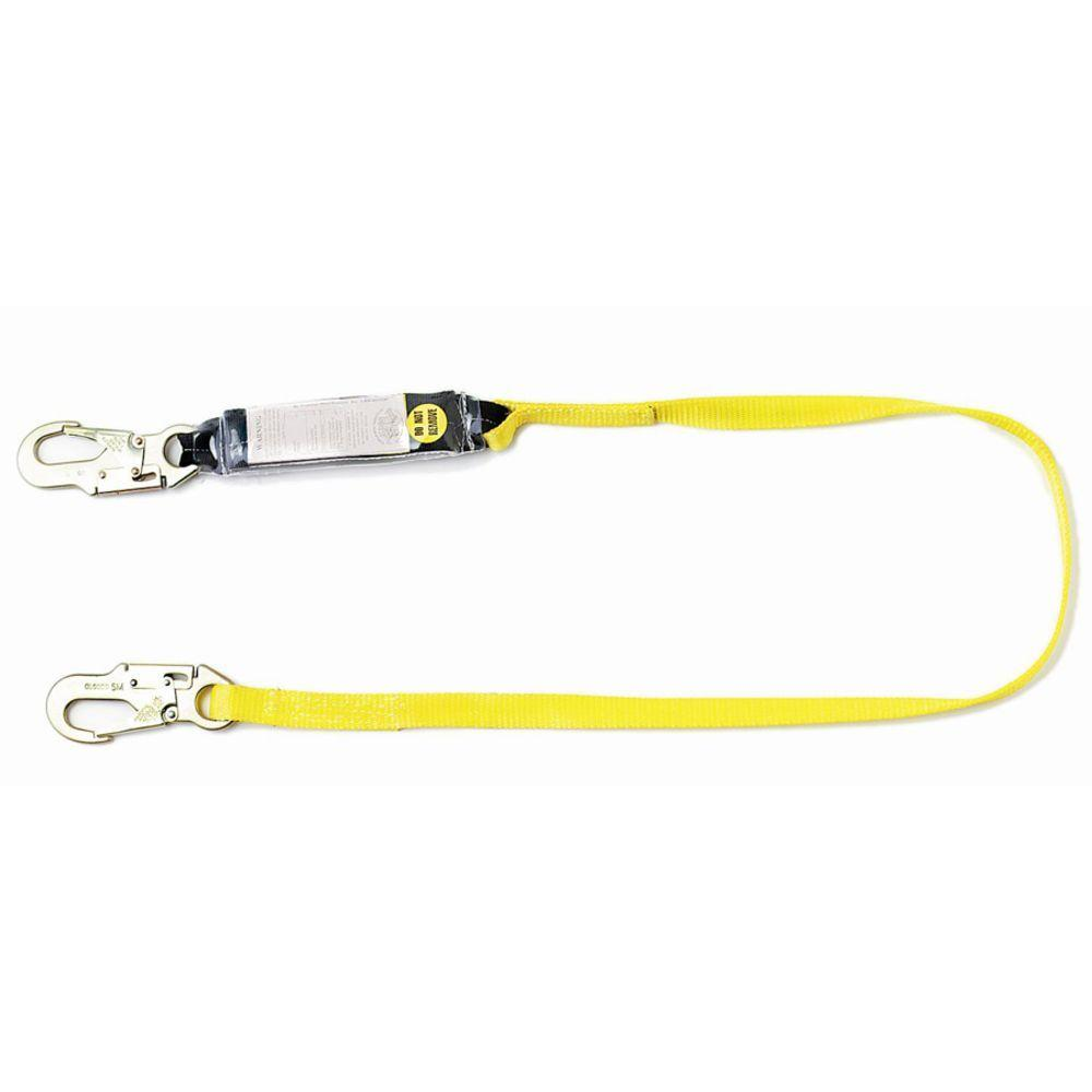 Qualcraft 3 ft. Single Leg Shock Absorbing Lanyard