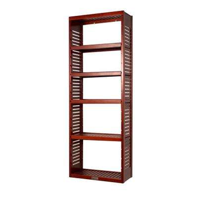 12 in. Deep Deluxe Tower Kit with Shelves Red Mahogany