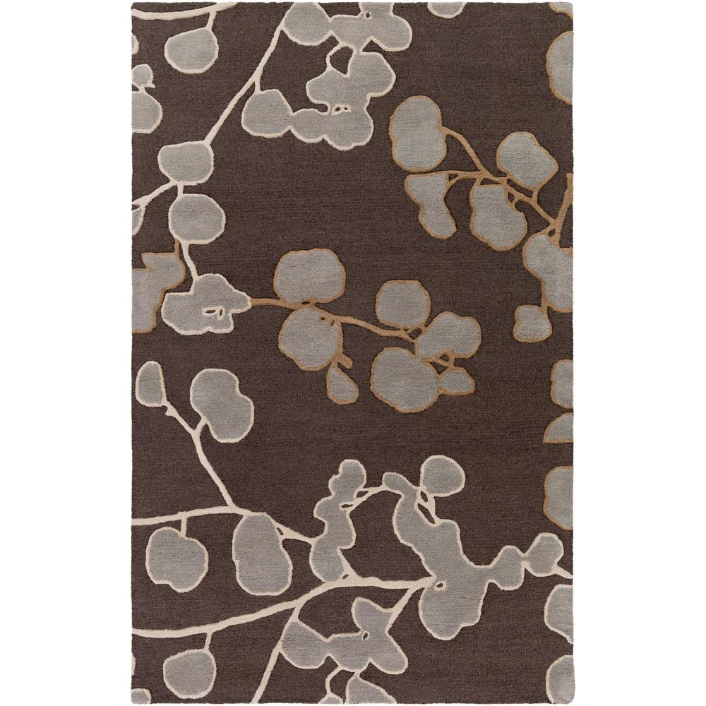 Venus Scarlett Chocolate Brown 5 ft. x 8 ft. Indoor Area