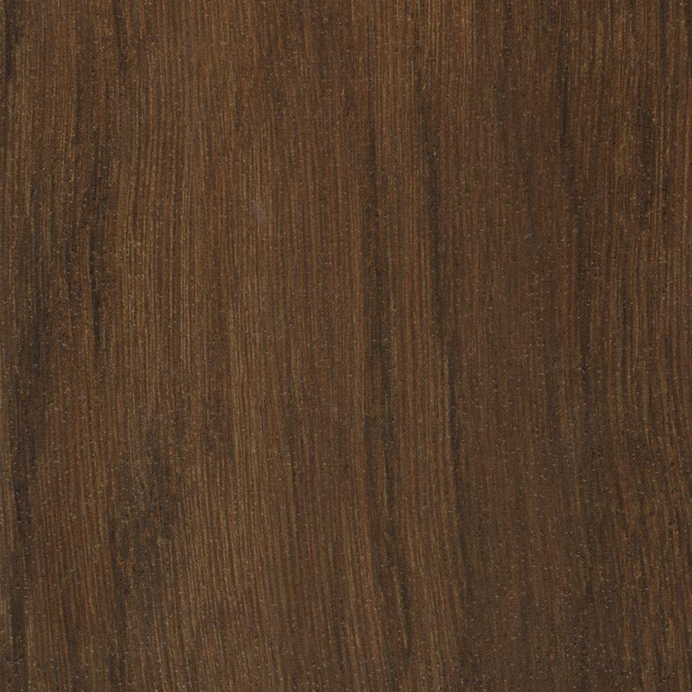 TrafficMASTER Take Home Sample - Allure Plus Oak Dark Brown Resilient Vinyl Flooring - 4 in. x 4 in.