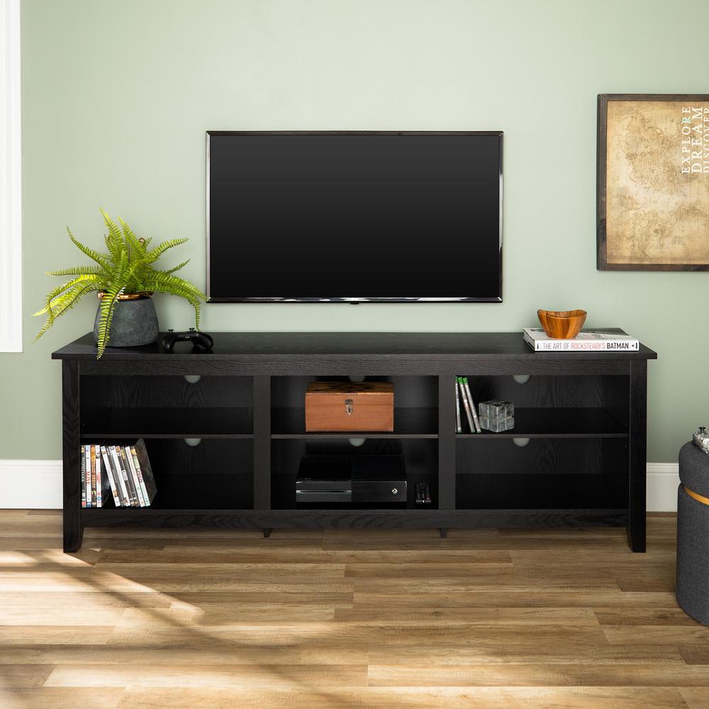 Walker Edison Furniture Company Essential Black Entertainment Center HD70CSPBL