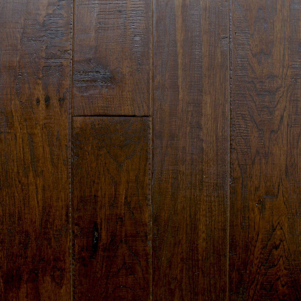 Millstead Take Home Sample - Hickory Chestnut Click Hardwood Flooring - 5 in. x 7 in.