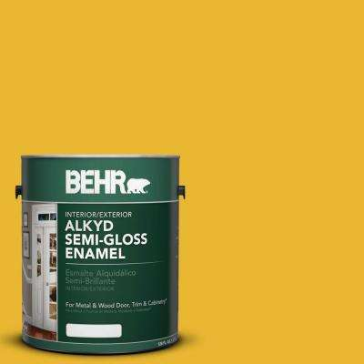 1 gal. #OSHA 6 Safety Yellow Semi-Gloss Enamel Alkyd Interior/Exterior Paint