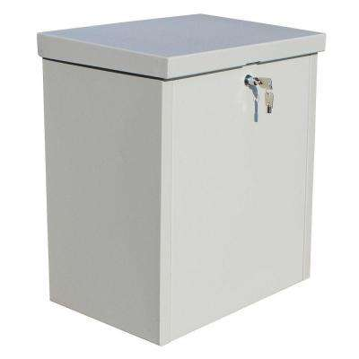 ParcelChest Textured Gray Wall Mount Locking Parcel Box