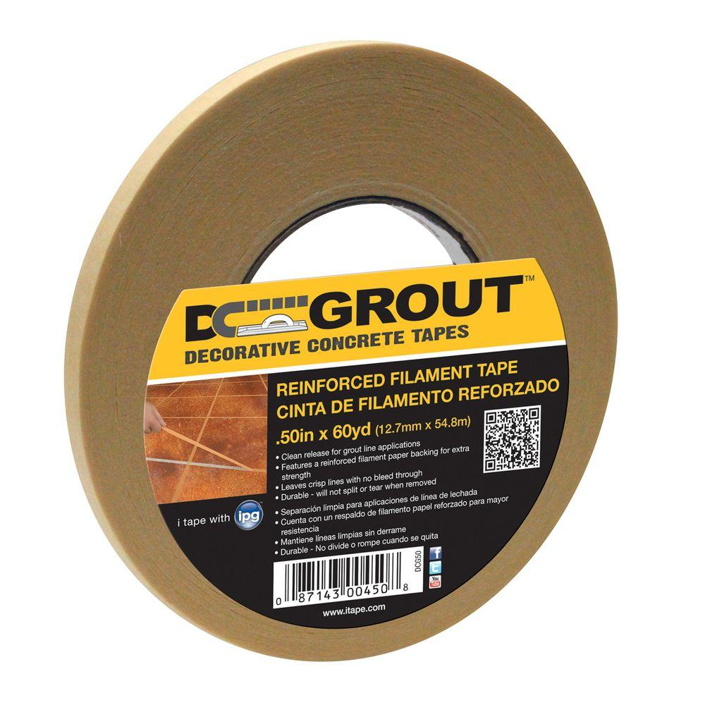 Intertape Polymer Group 1/4 in. x 60 yds. DC Grout Decorative Concrete Tape