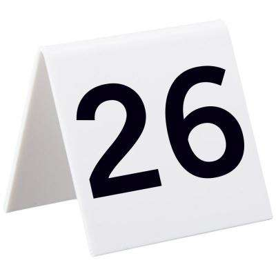 3 in. x 3 in. 26 to 50 Self-Standing Tent Number Cards
