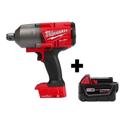 M18 FUEL ONE-KEY 18-Volt Lithium-Ion Brushless Cordless 3/4 in. Impact Wrench w/ Friction Ring, Free M18 5.0 Ah Battery