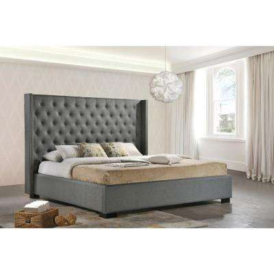 Newport Gray King Upholstered Bed