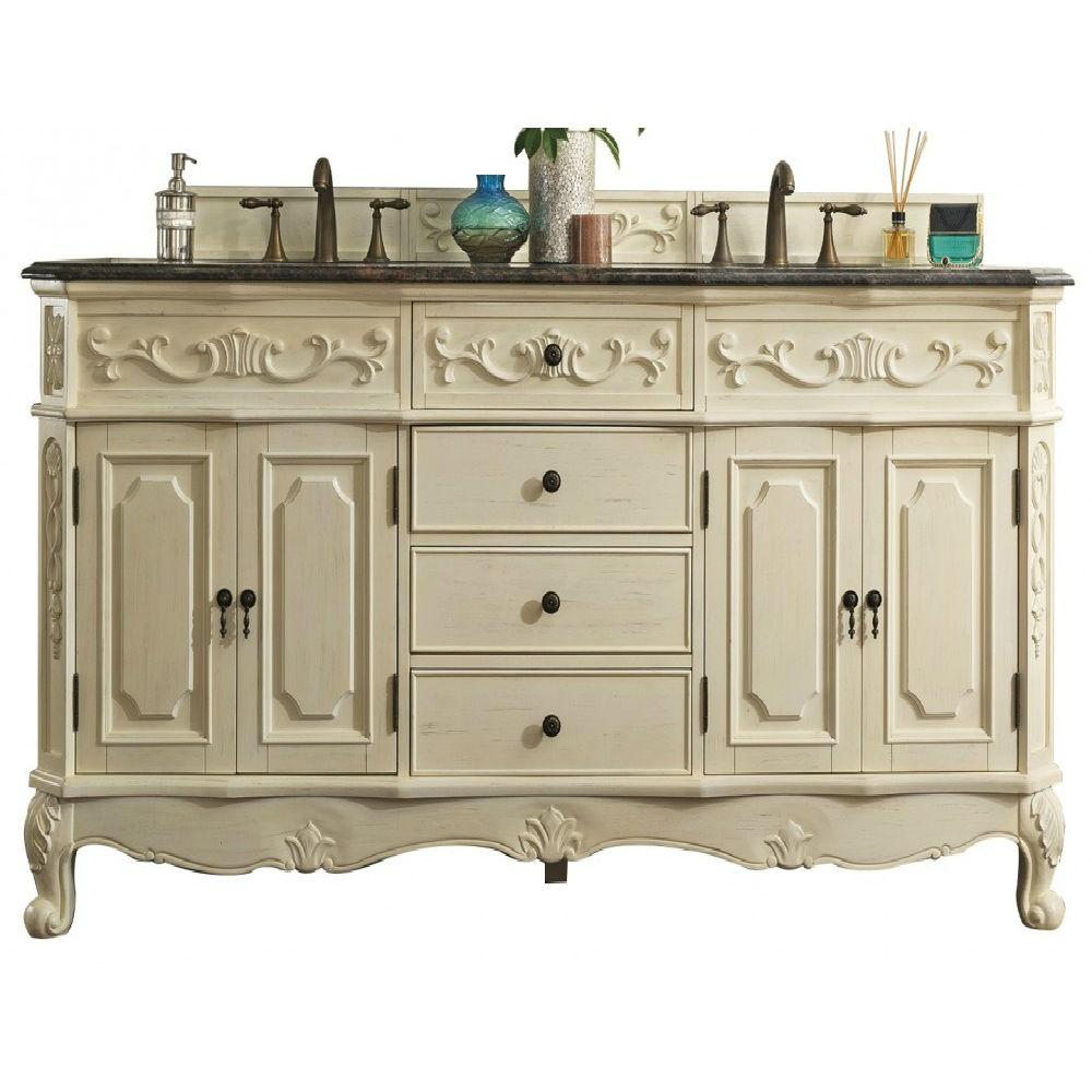 James Martin Signature Vanities Naples 72 in. W Double Vanity in Antique  White with British - James Martin Signature Vanities Naples 72 In. W Double Vanity In