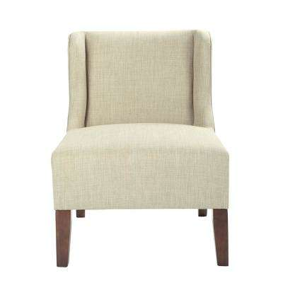 Leslie Toast Fabric Chair with Coffee Legs