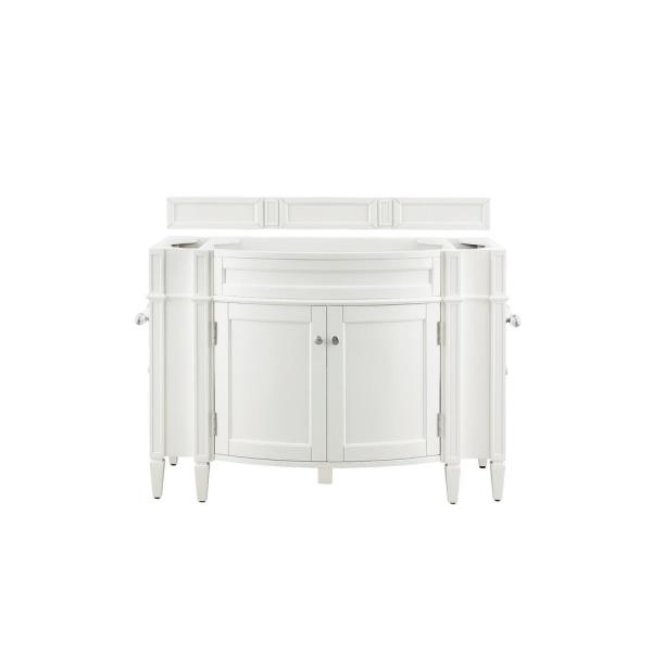Brittany 46 in. W x 33 in. H Single Bath Vanity Cabinet Only in Cottage White