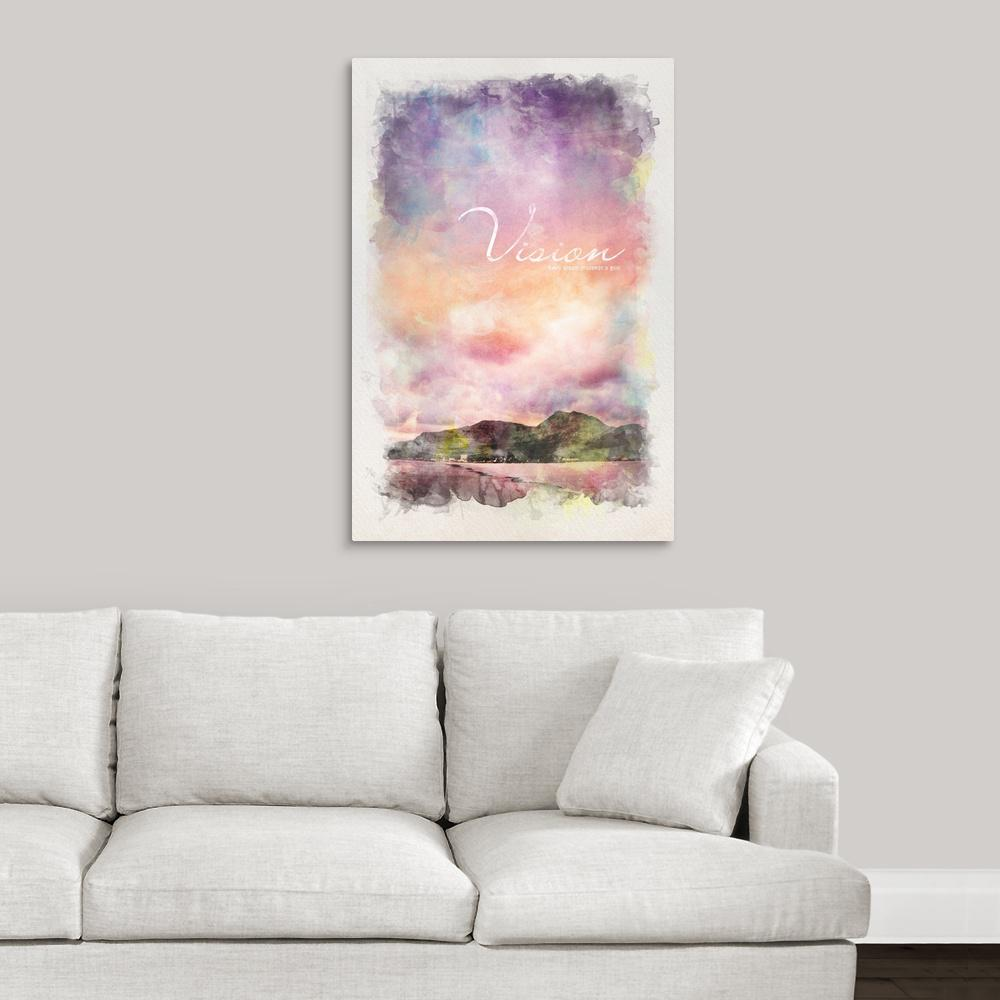 """Inspirational Poster: Every dream proceeds a goal"" by Kate Lillyson Canvas"