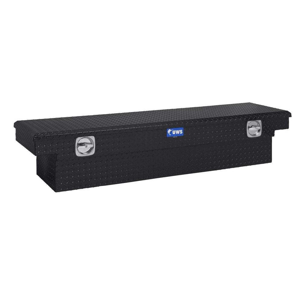 UWS 69 in. Aluminum Single Lid Secure Lock Deep T-100 Black Crossover Tool Box
