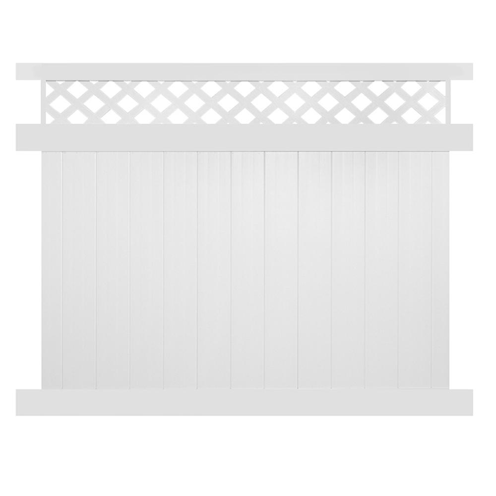 Ashton 5 ft. H x 8 ft. W White Vinyl Privacy