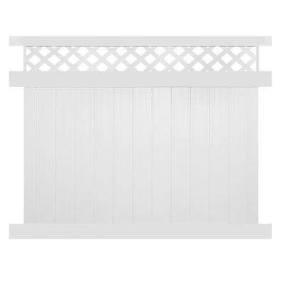 Ashton 6 ft. H x 8 ft. W White Vinyl Privacy Fence Panel Kit