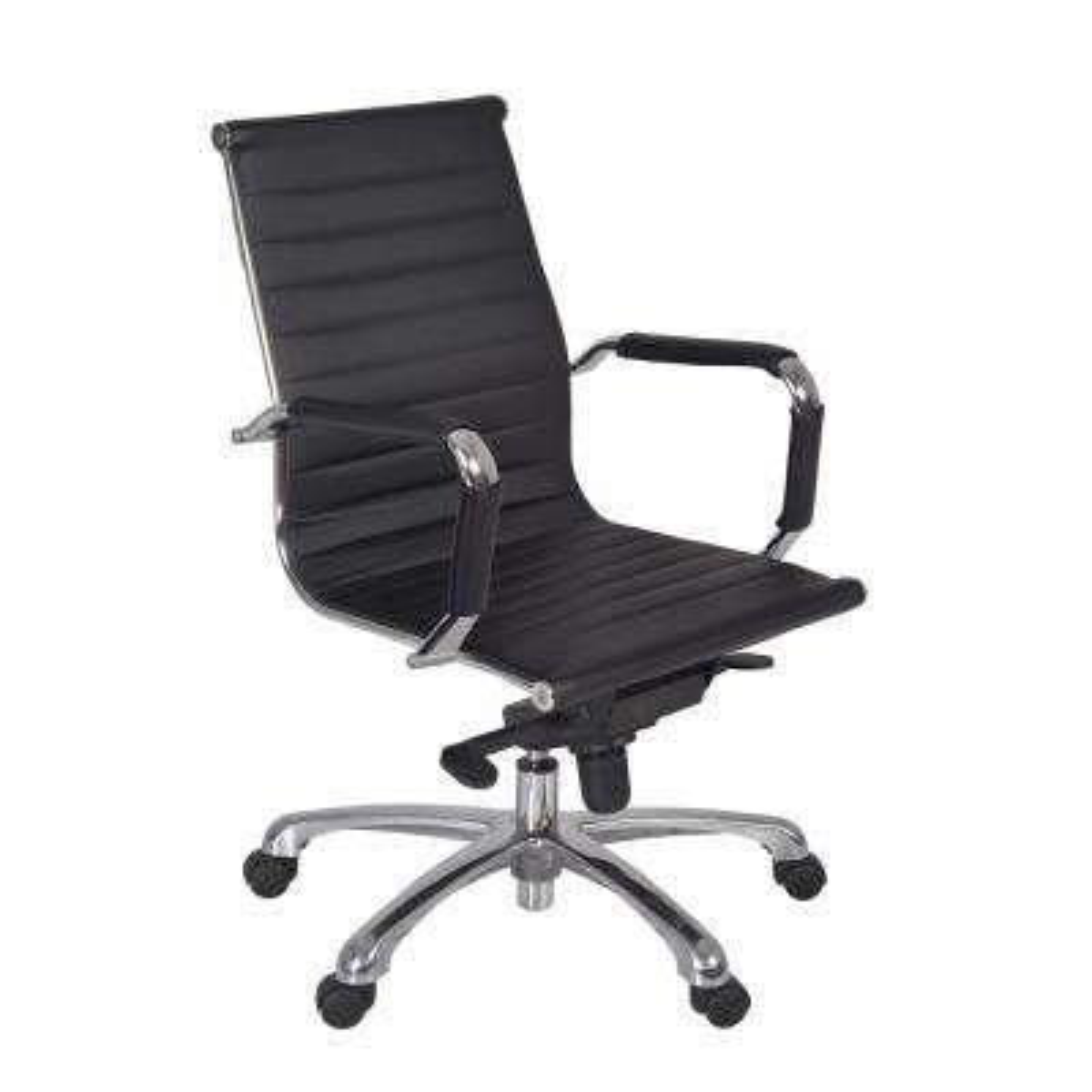 Solace Black Swivel Chair