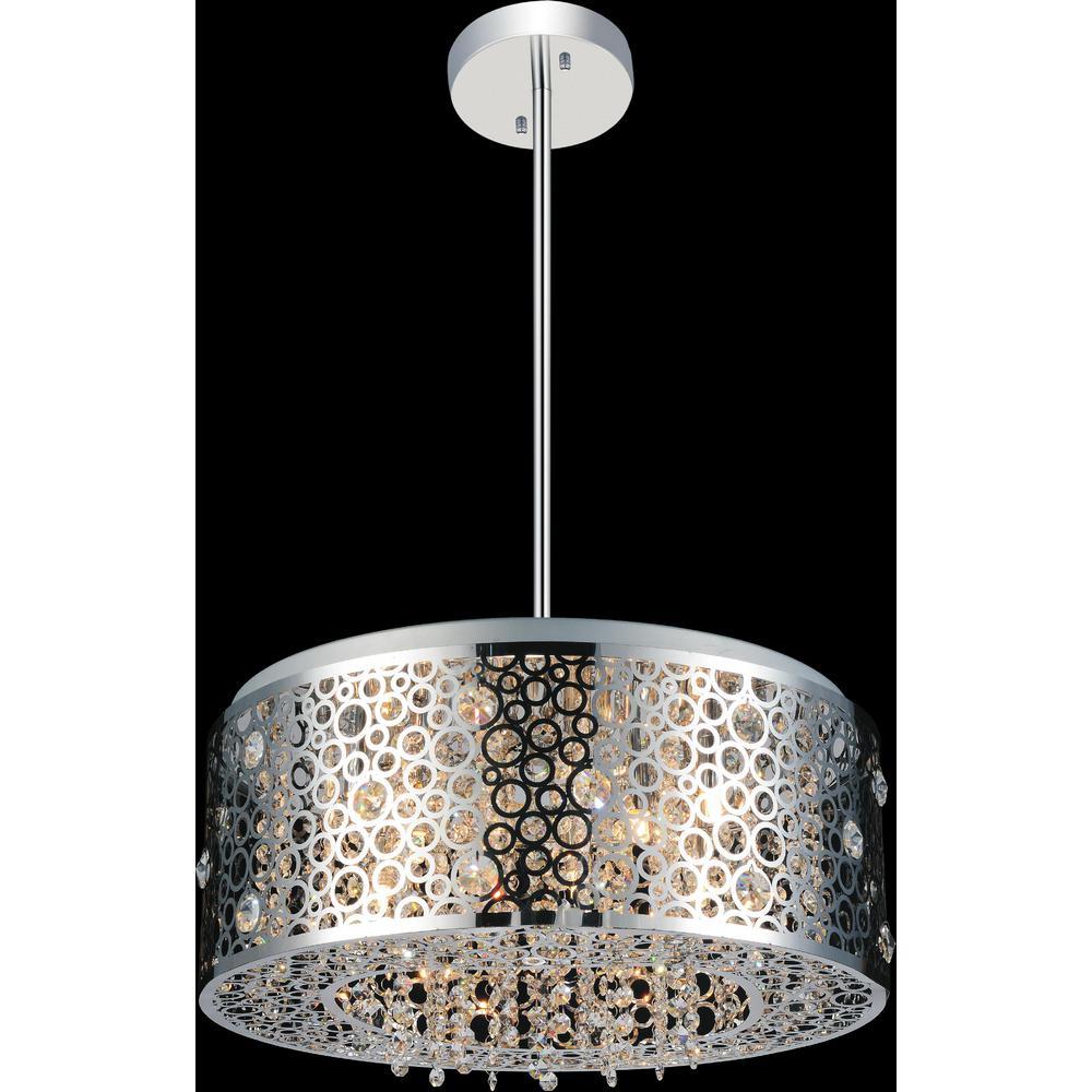 Bubbles 7-light chrome chandelier