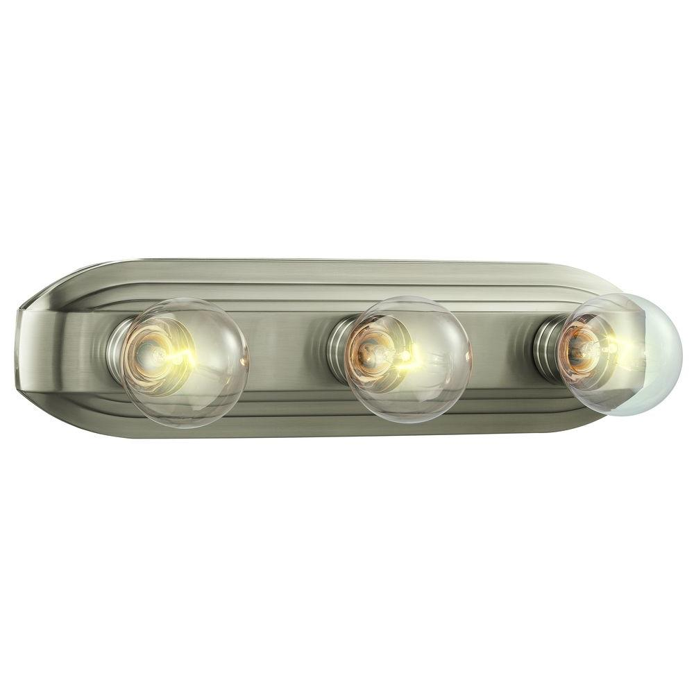 Hampton Bay 3 Light Brushed Nickel Vanity Light HB2050 35   The Home Depot
