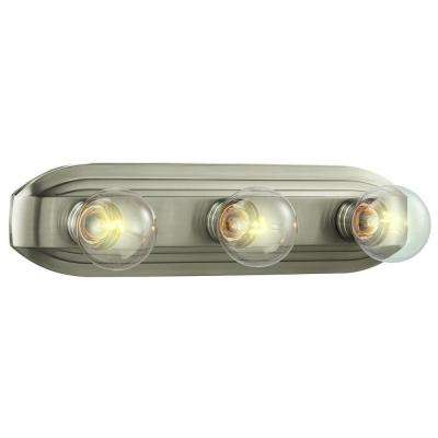 3-Light Brushed Nickel Bath Bar Light