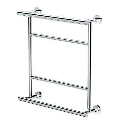Glam 20.75 in. x 21 in. Towel Centre in Chrome