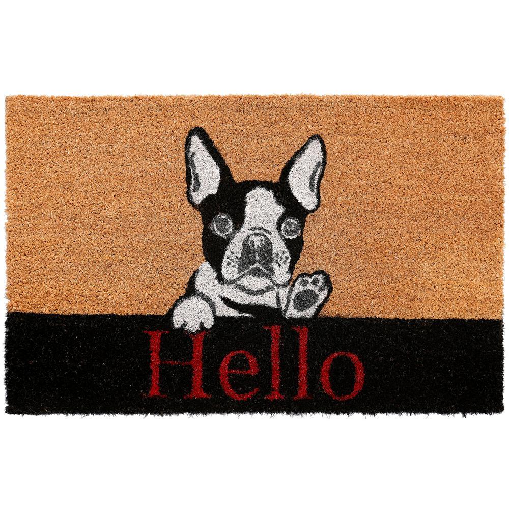 Comfy Pooch Hello Dog 18 in. x 28 in. Coir Mat
