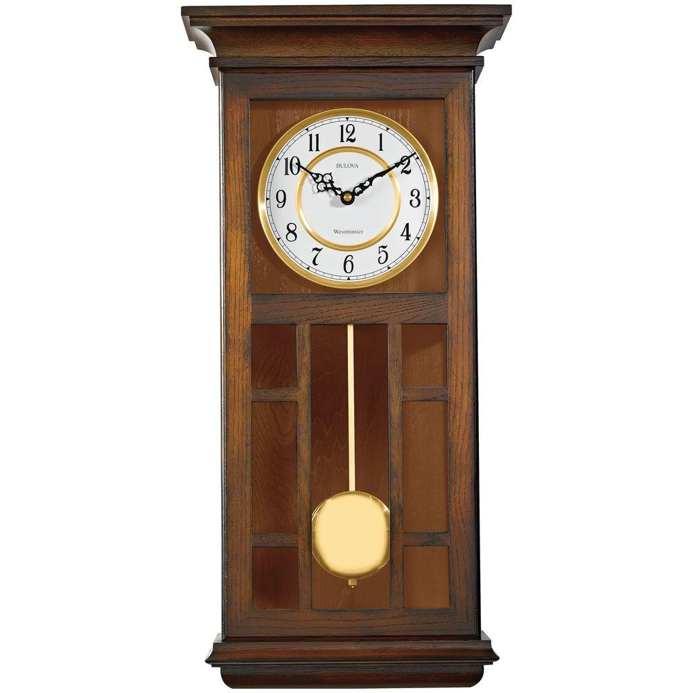 24 in. H x 11.5 in. W Pendulum Chime Wall Clock