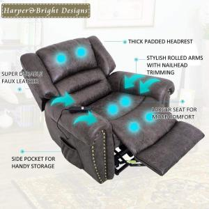 Remarkable Merax Brown Electric Power Lift Recliner Chair With Remote Gamerscity Chair Design For Home Gamerscityorg
