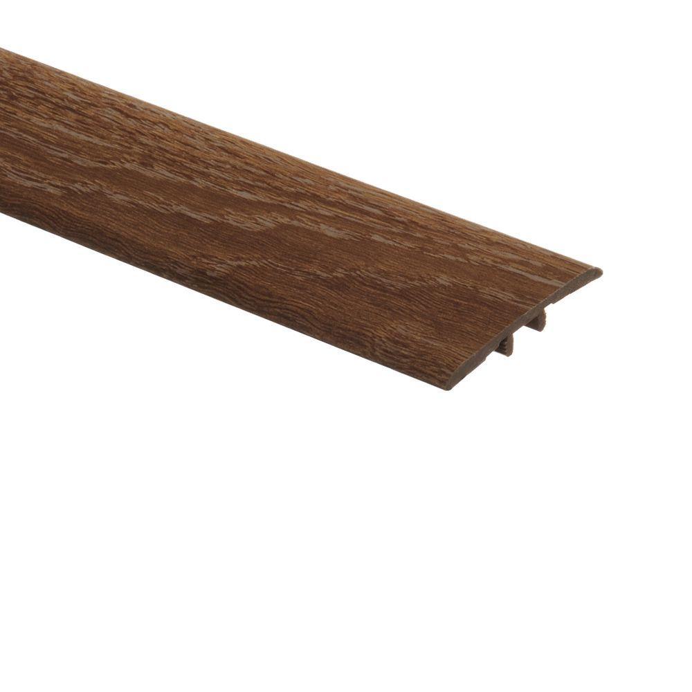 Zamma Limed Oak 5/16 in. Thick x 1-3/4 in. Wide x 72 in. Length Vinyl T-Molding