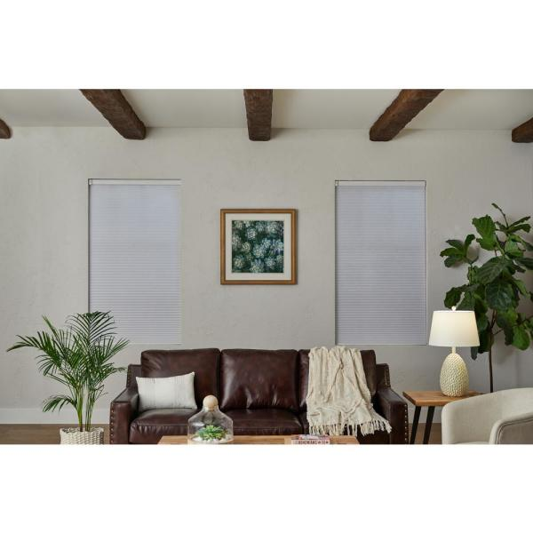 White Cordless Blackout Cellular Shade - 60 in. W x 48 in. L (Motorization Compatible)