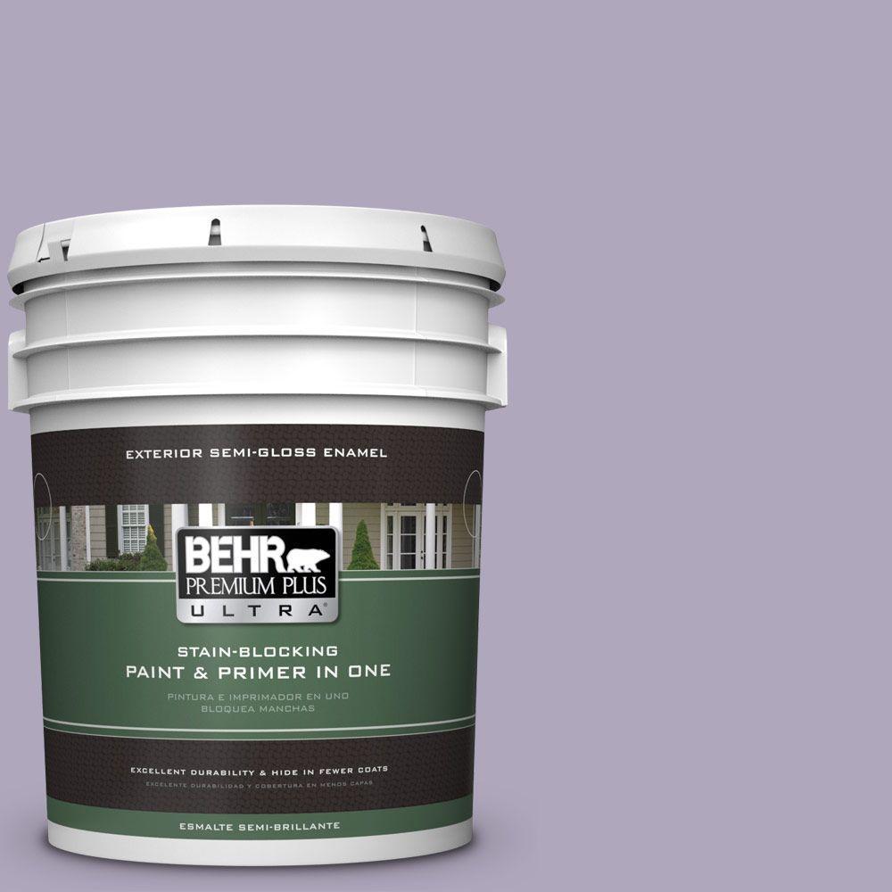 5-gal. #650E-3 Plum Blossom Semi-Gloss Enamel Exterior Paint