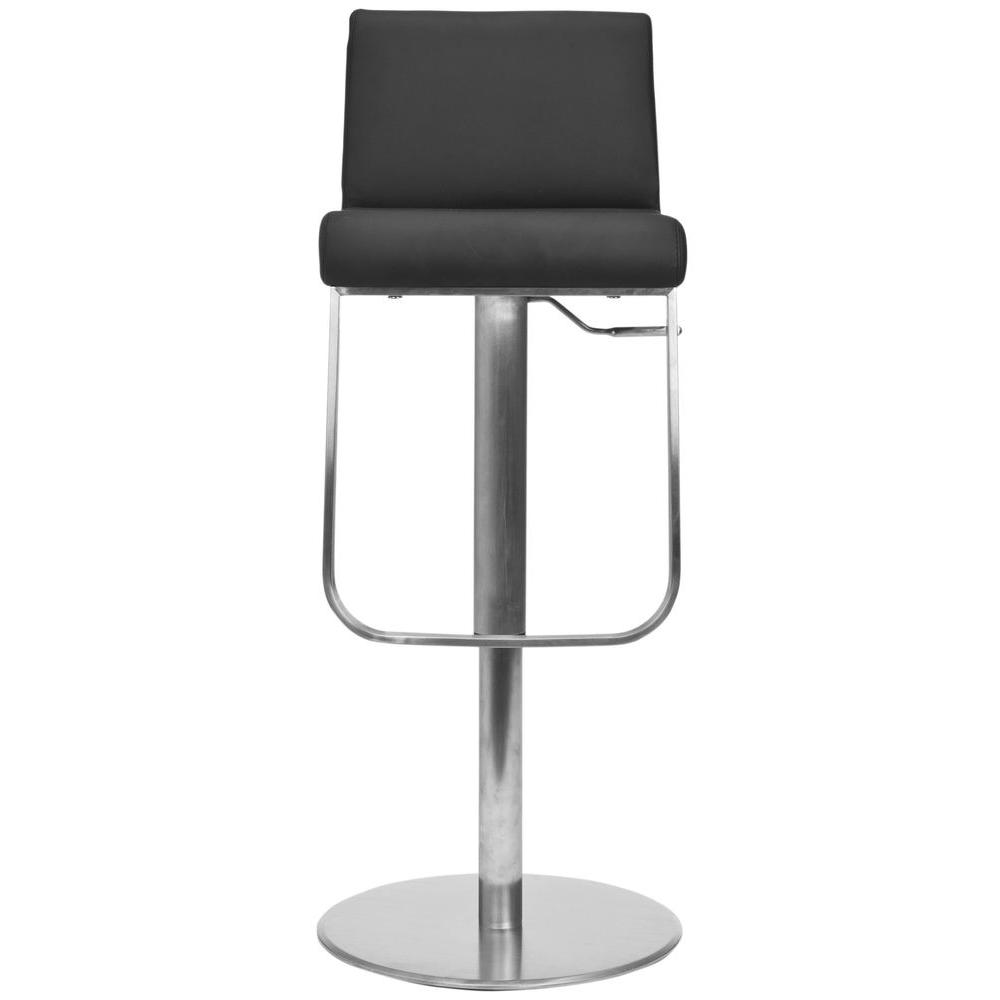 Stanley Adjustable Height Chrome Swivel Cushioned Bar Stool