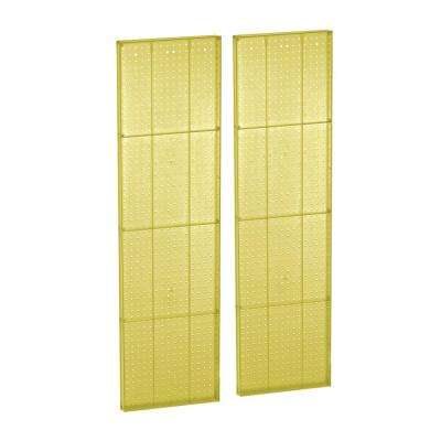60 in. H x 16 in. W Pegboard Yellow Styrene One Sided Panel (2-Pieces per Box)