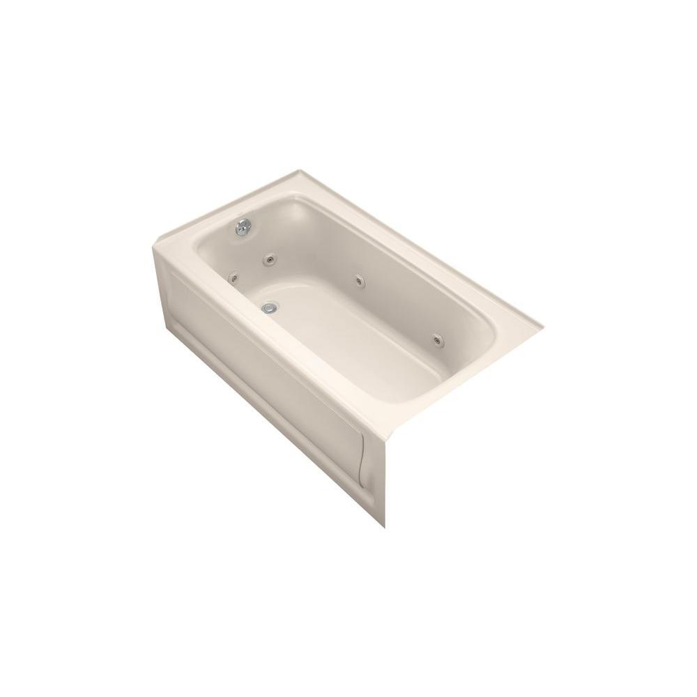 KOHLER Bancroft 5 ft. Whirlpool Tub in Innocent Blush-DISCONTINUED
