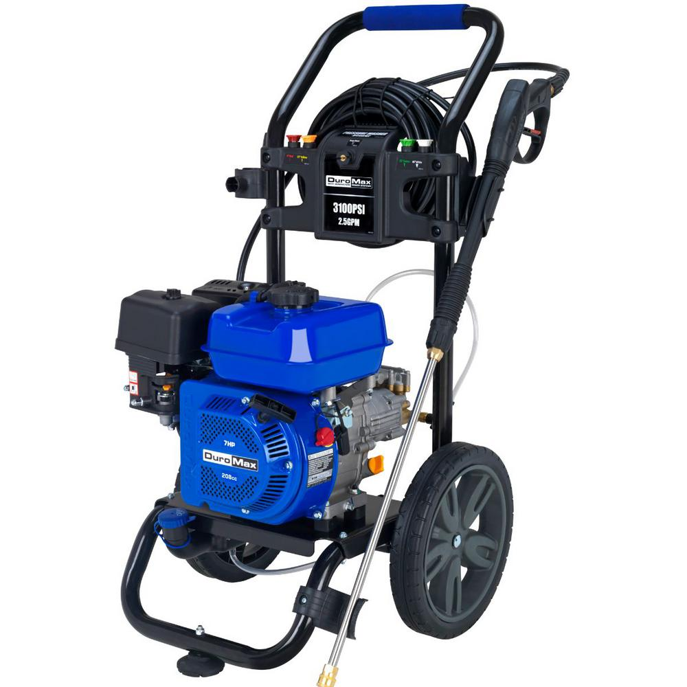 DUROMAX 3,100 PSI 2.5GPM 7.0 HP Engine High Performance Heavy-Duty Portable Gasoline Water Pressure Washer