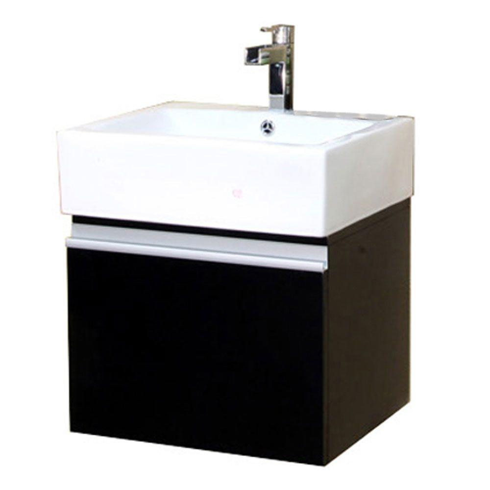 W Single Vanity In Dark Espresso With Porcelain Top White Bt3145 S The Home Depot