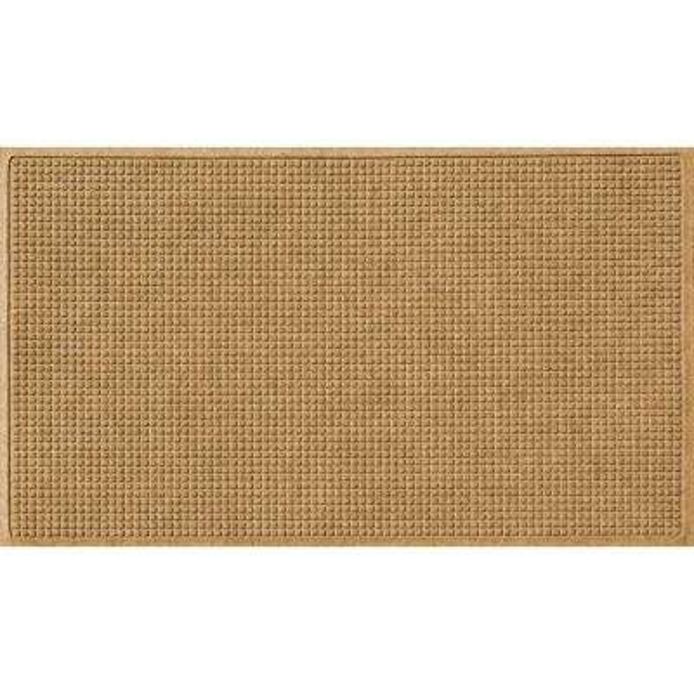 Gold 36 in. x 84 in. Squares Polypropylene Door Mat