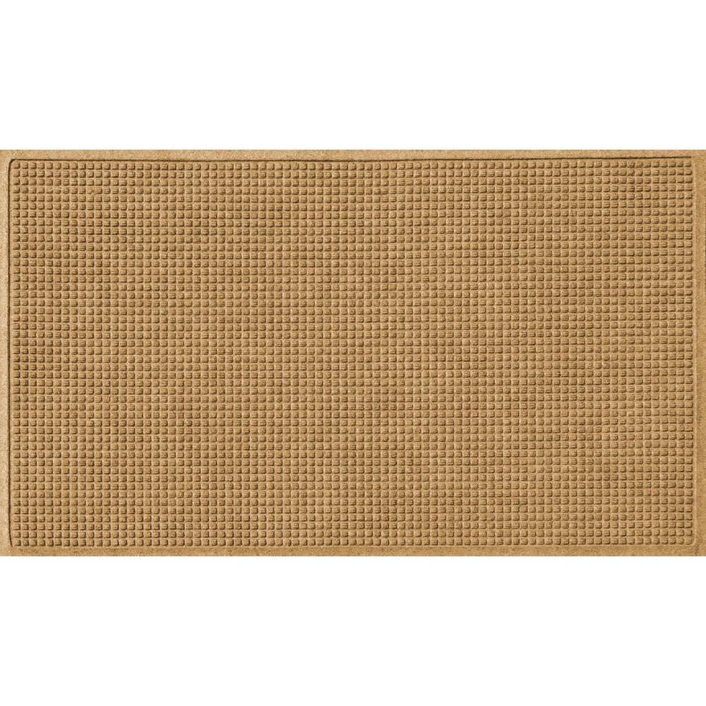 Gold 36 in. x 108 in. Squares Polypropylene Door Mat