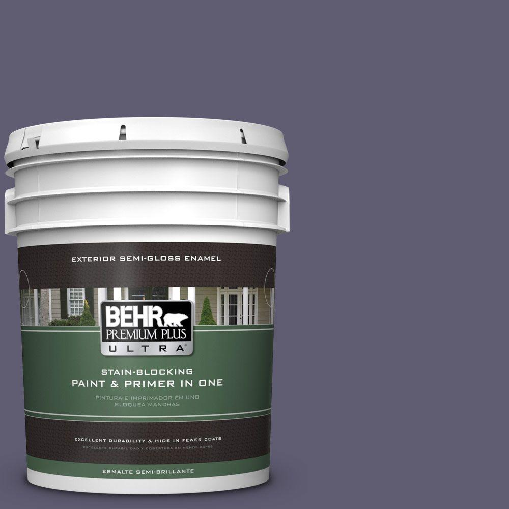 BEHR Premium Plus Ultra 5-gal. #PMD-90 Luscious Purple Semi-Gloss Enamel Exterior Paint