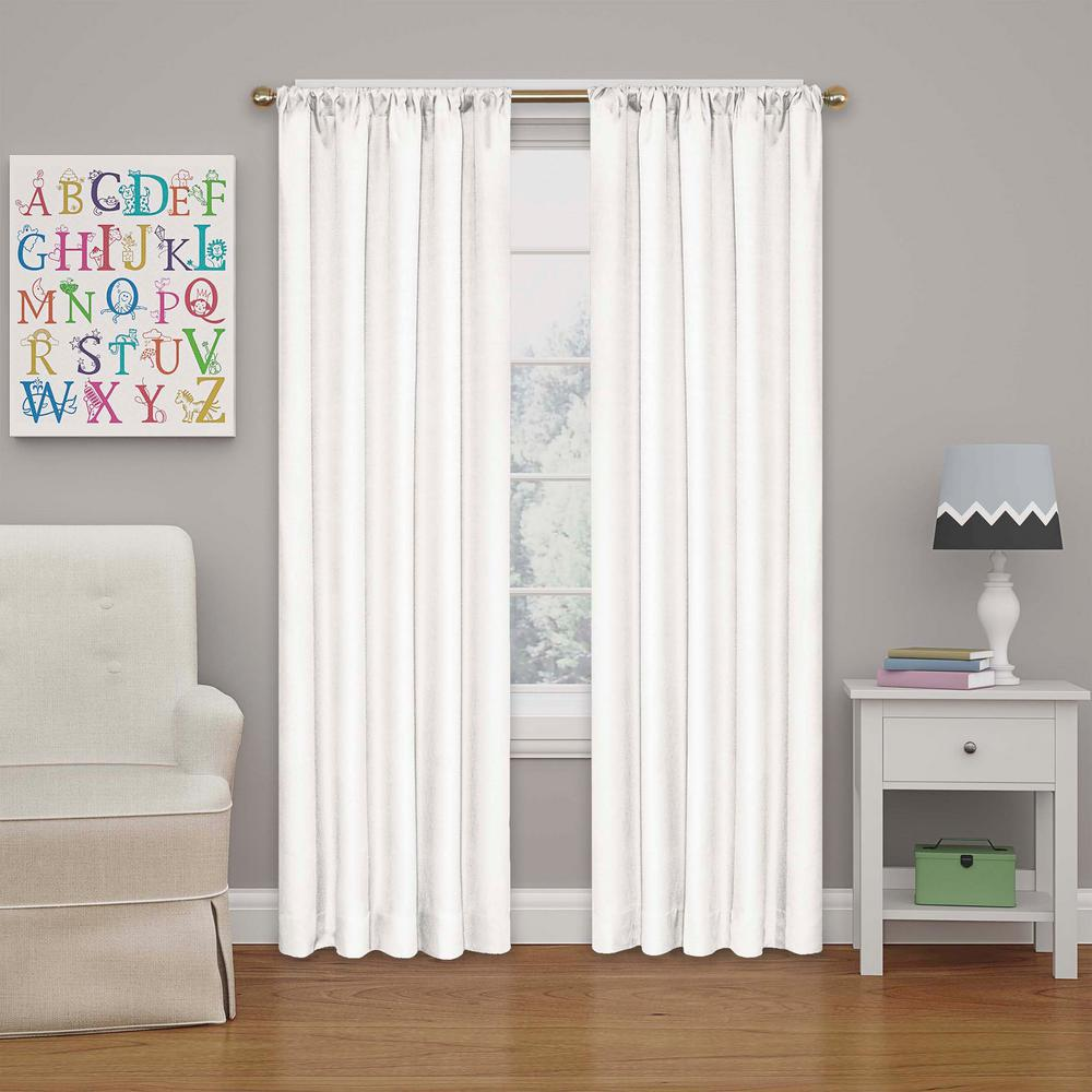 Purple Bedroom Lighting Espresso Bedroom Sets Bedroom Door Curtain Ideas Diy Bedroom Curtain Ideas: Eclipse Kendall 63 In. L White Rod Pocket Curtain