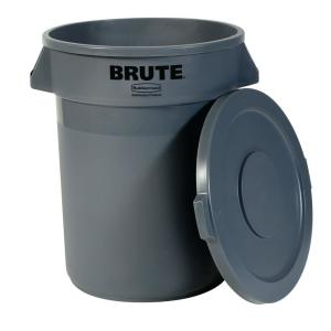 Rubbermaid Commercial Products Brute 20 Gal. Grey Round Trash Can with Lid by Rubbermaid Commercial Products