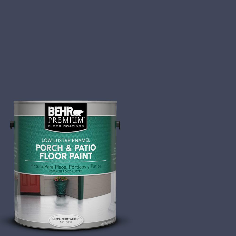 1 gal. #S530-7 Dark Navy Low-Lustre Porch and Patio Floor Paint