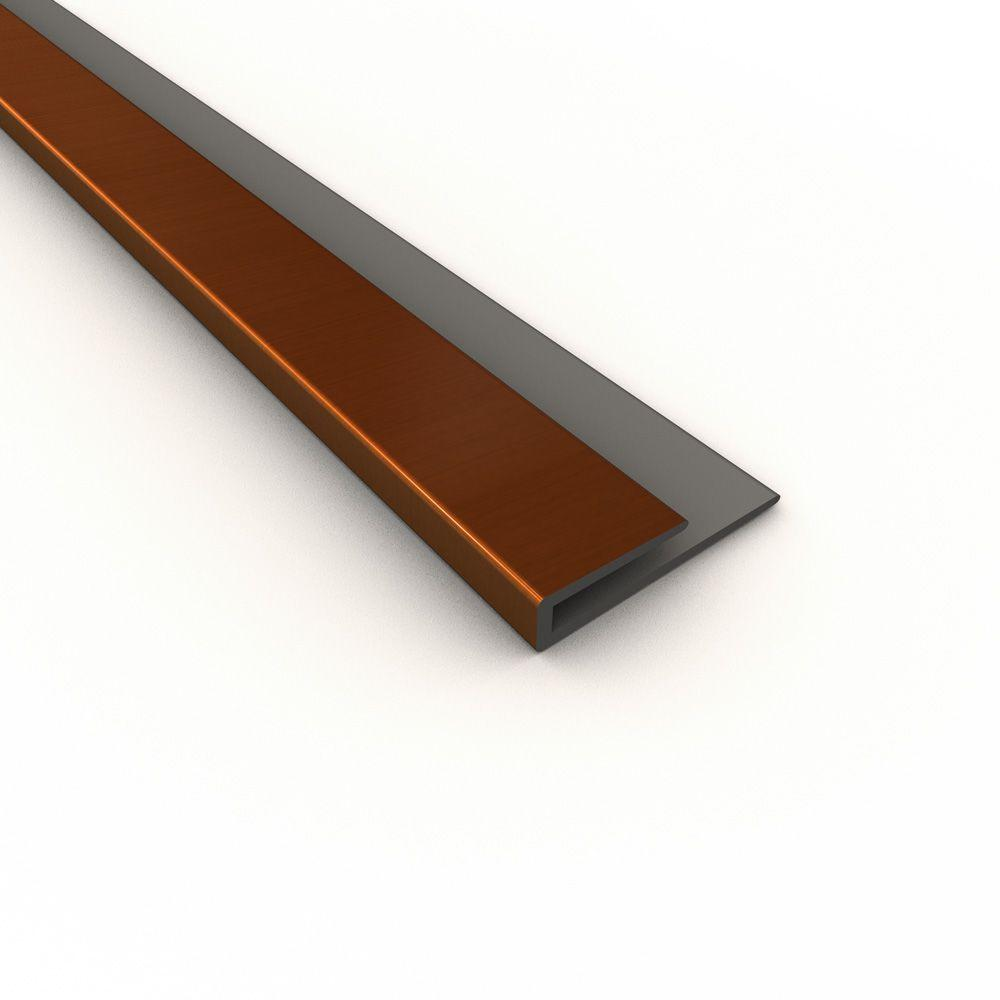 18 in. Oil-Rubbed Bronze PVC Large Profile J-trim