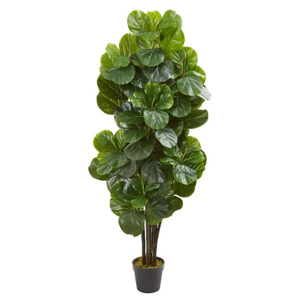 Nearly Natural 5 ft. Indoor Fiddle Leaf Fig Artificial Tree 9107